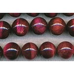 ZSOLDOUT - Tiger's Eye Beads, Red Round 16mm