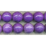 Magnesite Beads, Purple Round 16mm