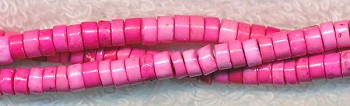 Magnesite Beads, Pink Heishe Spacer Beads 4mm