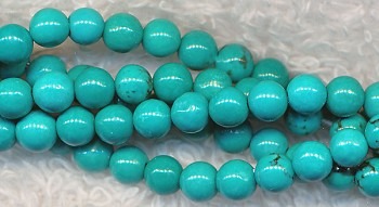 Turquoise Beads, Round 4mm Stabilized