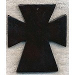 Stone Cross Cross Pendants, Extra-Large Rustic Black 85x74mm