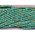 3-4mm Natural Turquoise Heishe Tube Beads