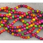 Howlite Beads, Multicolor Round 4mm