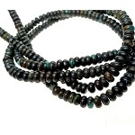 Turquoise Beads, Rondelle 6mm Natural Dark