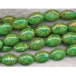 Mosaic Green Turquoise Oval Beads 20x15mm