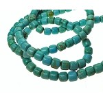 Turquoise Beads, Barrel 7mm Drum