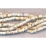 Magnesite Beads, White Heishe 4mm