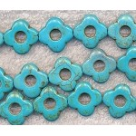 20mm Turquoise Flower Beads