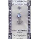 Sterling Silver Butterfly Belly Ring, Navel Ring Jewelry