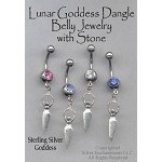 Sterling Silver Goddess Belly Ring, Pagan Pierced Body Jewelry