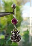 Owl Belly Ring, Owl Navel Ring Jewelry