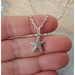 Silver Small Starfish Necklace