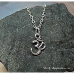 Om Necklace, Everyday Silver Om Jewelry