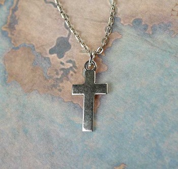 Plain Cross Necklace - Everyday Silver Christian Jewelry