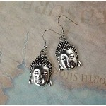Silver Buddha Earrings - Everyday Buddhist Jewelry