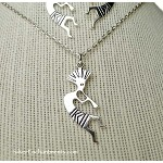 Kokopelli Necklace, Southwestern Jewelry
