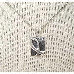 Silver Awareness Ribbon Necklace, Hope Necklace