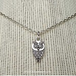Owl Necklace, Silver Owl Jewelry