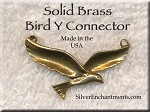 Solid Brass Bird Y Necklace Centerpiece