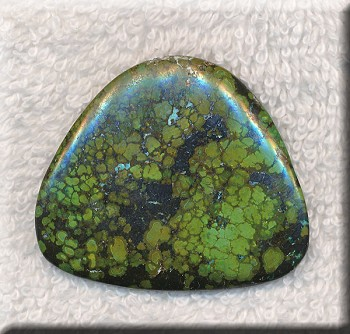 ZSOLD / Natural Green Turquoise Cabochon, Freeform, 45x38mm