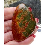 Natural Red Creek Jasper Cab Freeform Cabochon for Wire-Wrapping 54.5x36x5.5mm