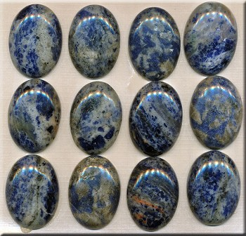 Sodalite Cab, Calibrated Oval 22x30mm