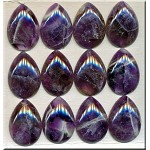 Amethyst Cabochon, Calibrated Teardrop 22x30mm