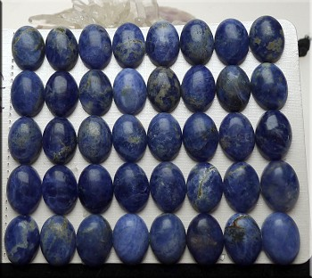 Sodalite Cabochon, Calibrated Oval 10x14mm