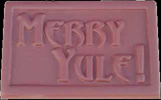 Merry Yule Chocolate Mold, Pagan Holiday Candy Mold