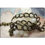 Antique Brass Double Curb Chain,12x9mm
