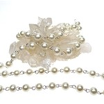 6mm Glass Pearl Beaded Chain