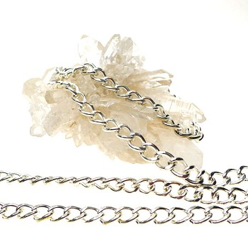 Silver Plated 5mm Curb Chain By The Foot