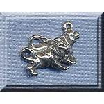 Sterling Silver Lions Charm, Lion Jewelry