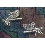 Sterling Silver Dragonfly Charm, 20x14mm