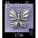 Sterling Silver Butterfly Charm-Pendant, Elegant