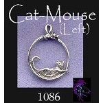 Sterling Silver Cat and Mouse Charm