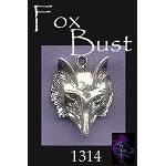 Sterling Silver Fox Pendant, Large Fox Jewelry