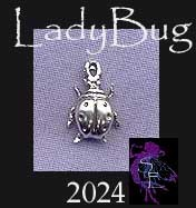 Sterling Silver Small Ladybug Charm, Ladybug Jewelry