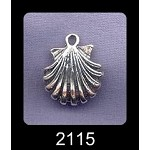 Sterling Silver Dimensional Fan SeaShell Pendant, Seashell Jewelry