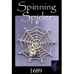 Sterling Silver Spider Pendant, Spider in Web