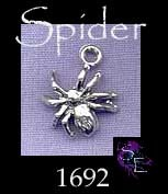 Sterling Silver 3D Spider Charm