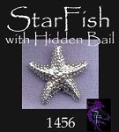 Sterling Silver Starfish, Dimensional Sea Star with Hidden Bail