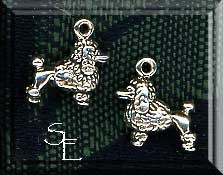 Sterling Silver 3D Poodle Charm