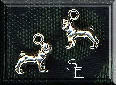 Sterling Silver 3D Pug Dog Charm