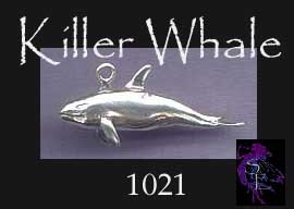 Sterling Silver Dimensional Whale Pendant