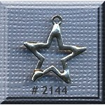 Sterling Silver Star Charm, Outline Star Jewelry