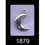 Sterling Silver 3D Crescent Moon Charm, 15x10mm Moon Jewelry