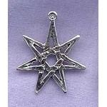 Sterling Silver Septagram Pendant, 7-pointed Fairy Star
