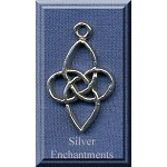 Celtic Flower Knot Pendant, Sterling Silver