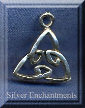 Sterling Silver Triquetra Charm, 17x15mm Celtic Jewelry
